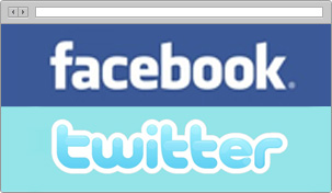 Promote listings on facebook and twitter